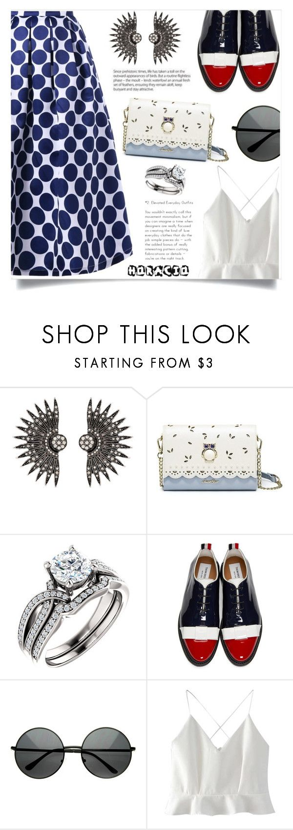 """""""Love Spell"""" by violet-peach ❤ liked on Polyvore featuring Thom Browne and WithChic"""