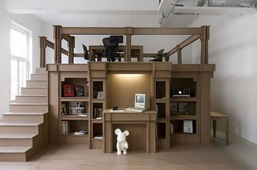 Mon Bureau Tout En Carton Par Alrik Koudenburg Meuble En Carton Design En Carton Mobilier En Carton