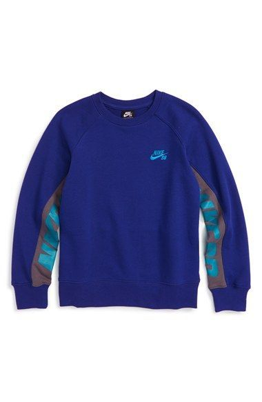 Nike Sb Everett Crewneck Sweatshirt Big Boys Style Pinterest