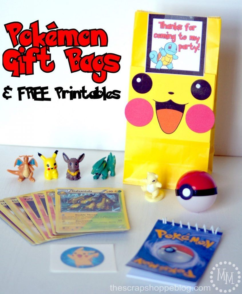 These Printable Pikachu Faces Instantly Make Any Gift Bag More Fun Perfect For Pokemon Birthday Parties