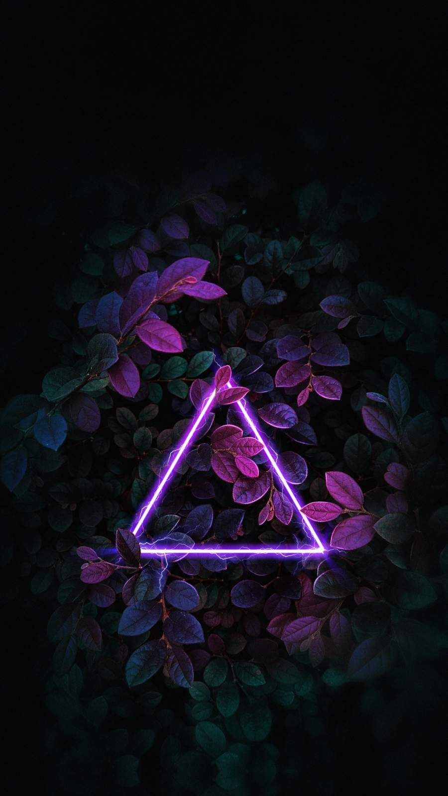 Triangle Neon Nature Foliage - iPhone Wallpapers