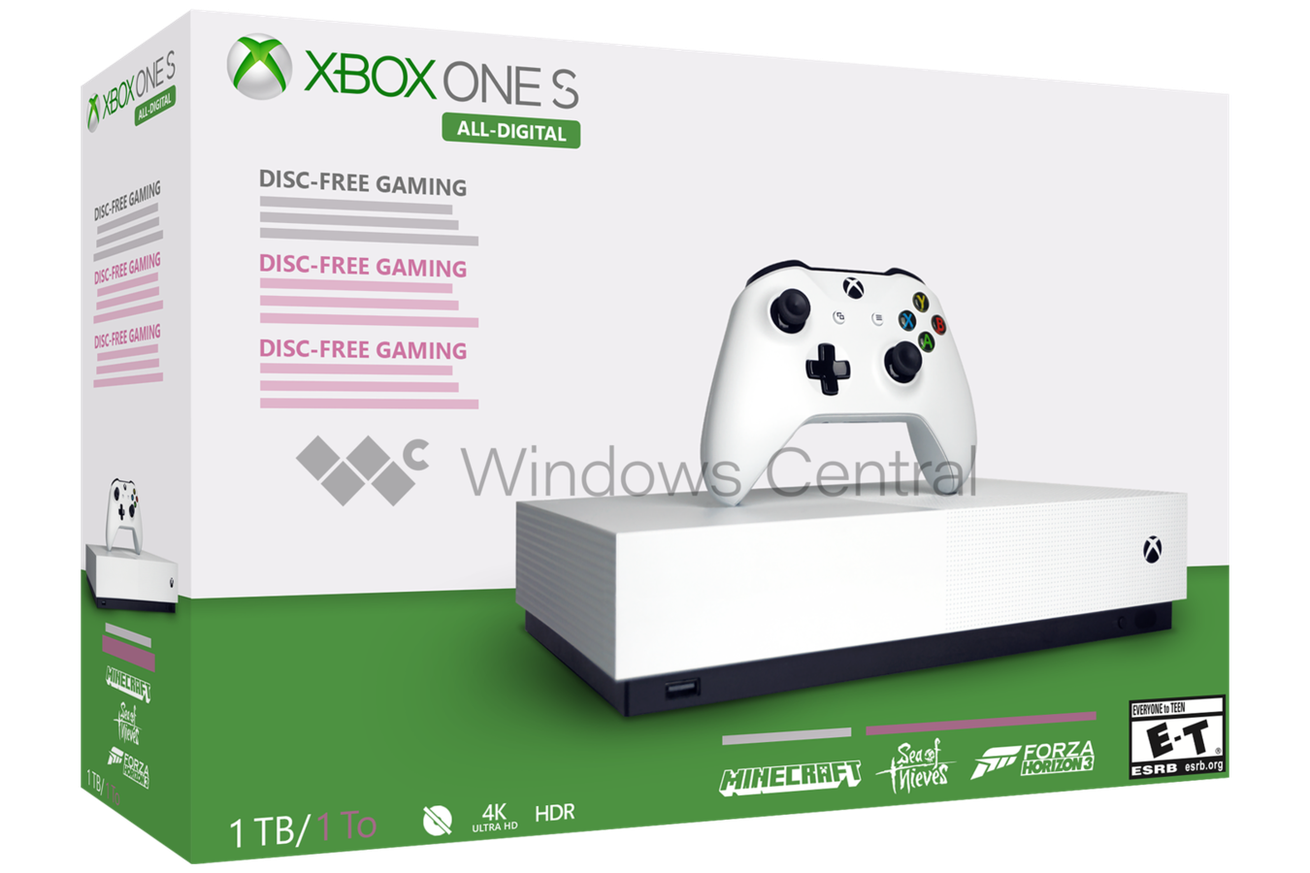 Microsoft S Disc Less Xbox One S Reportedly Launching May 7th With Images Xbox One S Xbox One Xbox