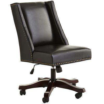 Owen Swivel Desk Chair Black Pier 1 Stylish Desk Chair Chair