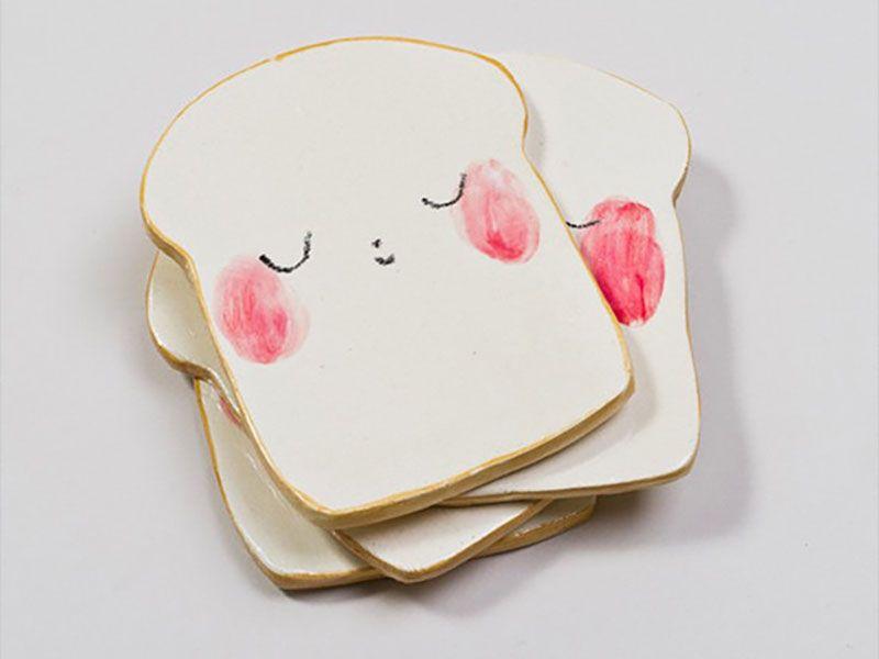 charlotte mei's bread face plate #tazasceramica