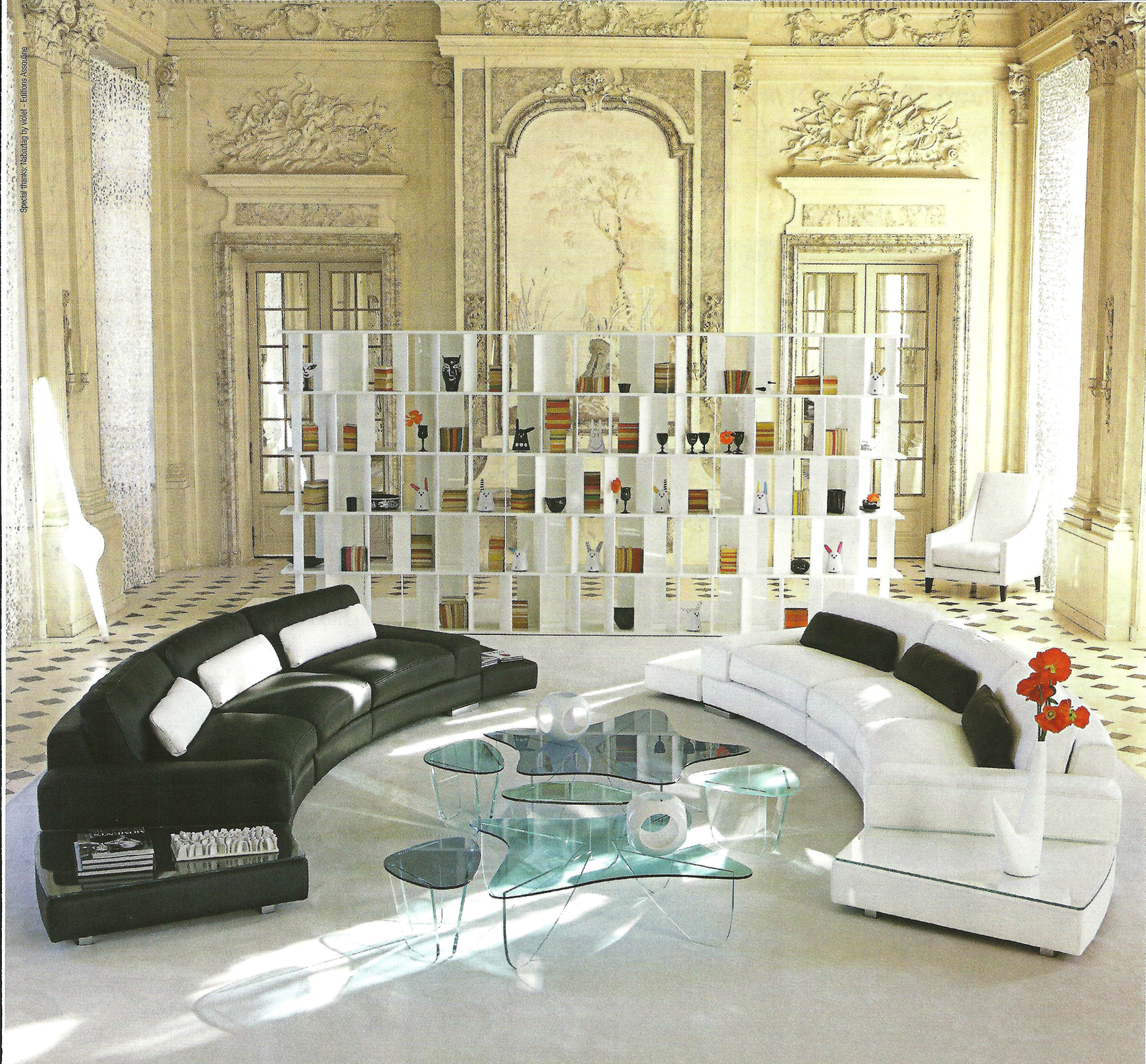European Interior Design Stark Contemporary Objects In A Classical Architectural Space Ad