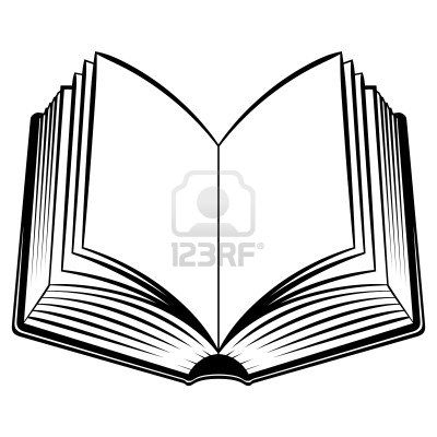 Open Book Black And White Illustration For Design Book Clip Art Open Book Drawing Open Book