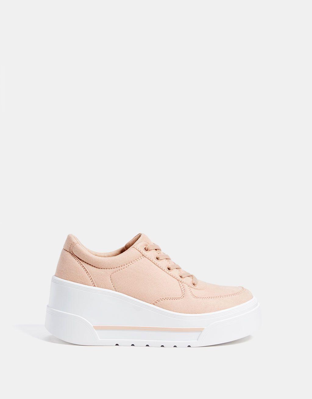Sznurowane Sportowe Buty Na Koturnie Wedge Sneakers Sneakers Slip On Sneaker