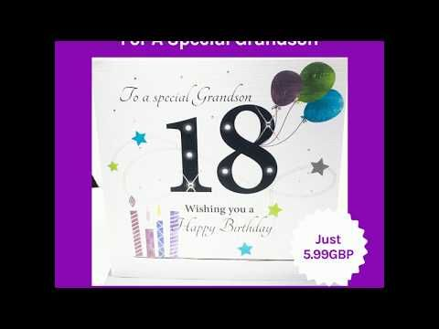 LARGE Happy 18th Birthday Card For A Special Grandson Fab New Large Granddaughter Design By Rush Features