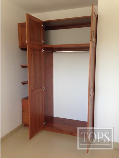 Tops s a les ofrece muebles de cocina ba o closet a la for Disenos de closet para dormitorios pequenos