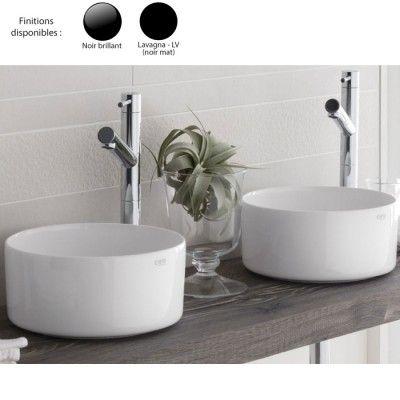 Vasque ronde à poser Ø25 cm design MINIMO-SHUI COMFORT, céramique noire