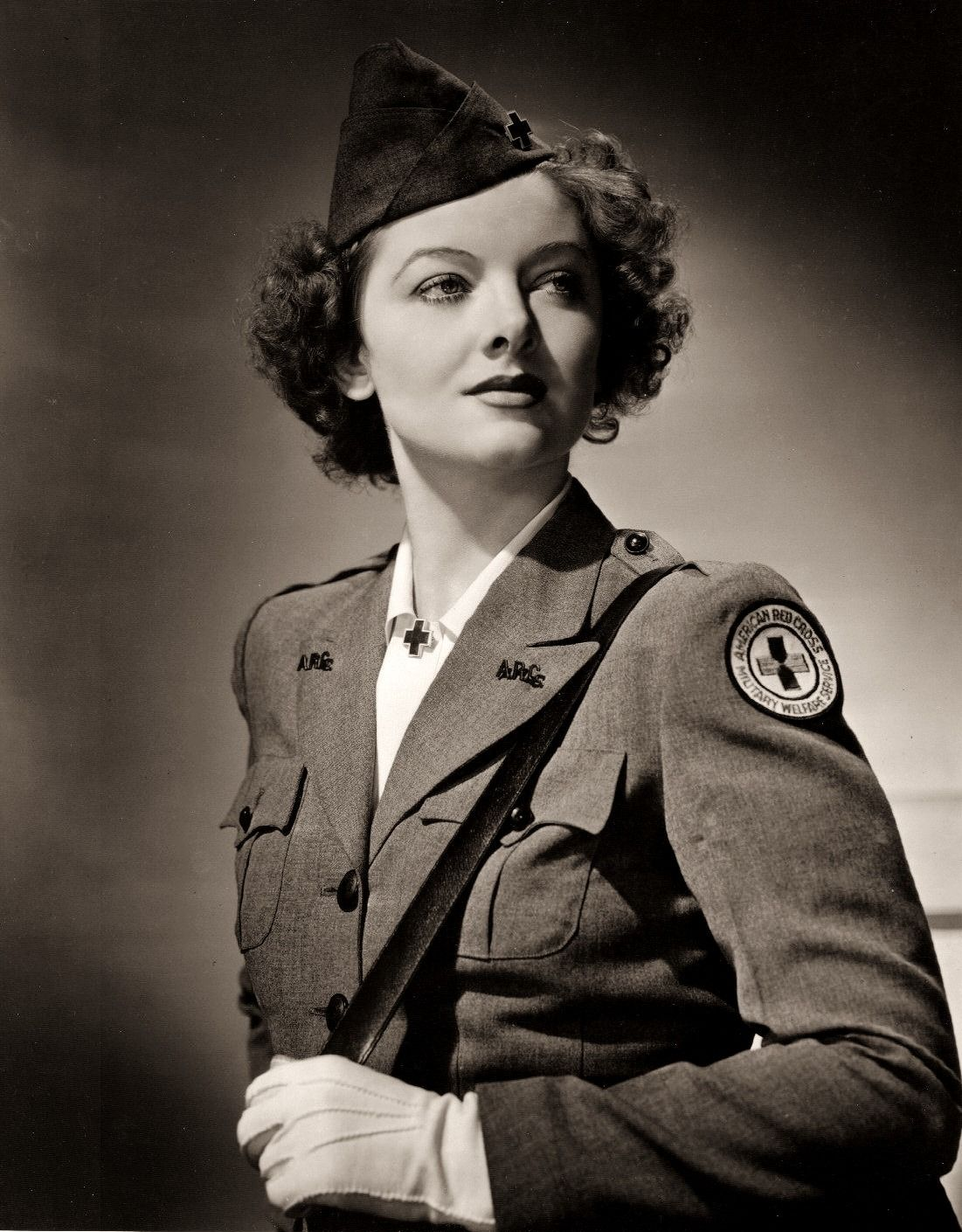 Image result for myrna loy in ww2