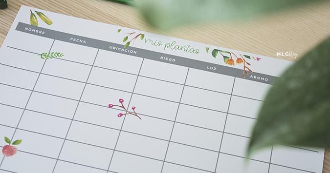 Consigue un bonito planificador de plantas GRATIS