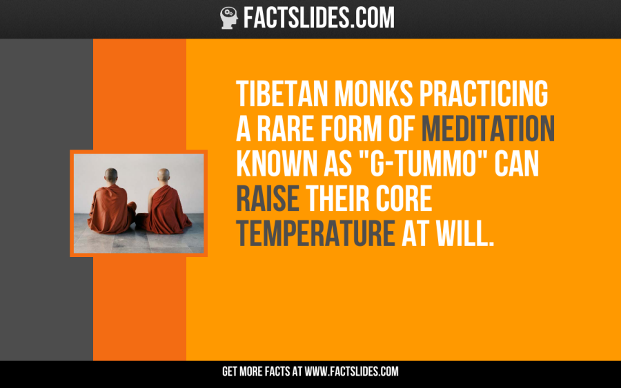 Tibetan Monks Practicing A Rare Form Of Meditation Known As G Tummo