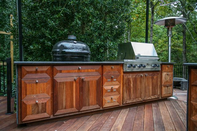 Astounding Outdoor Kitchen On Wood Deck With Natural Finish Wooden Outdoor  Kitchen Cabinet And Stainless Steel Outdoor Kitchen Cooler From DIY Outdu2026