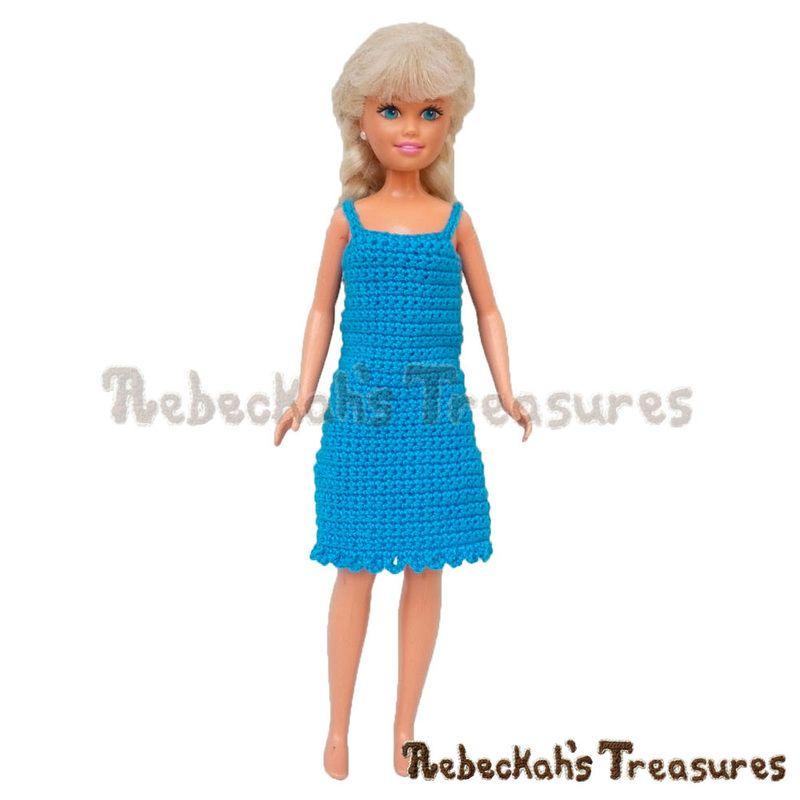 Simply BLUEtiful Teen Fashion Doll Dress / Free Crochet Pattern by ...