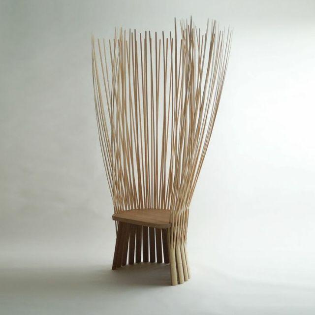 简约美】日本木制品设计| Bamboo chair, Bamboo furniture