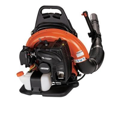 Echo 216 Mph 517 Cfm 58 2cc Gas 2 Stroke Cycle Backpack Leaf Blower With Tube Throttle Pb 580t The Home Depot Backpack Blowers Blowers Leaf Blower