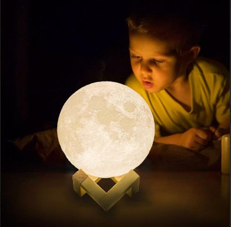 Handmade Moon Lamp For Charity Etsy In 2020 Night Light Kids Night Light Lamp