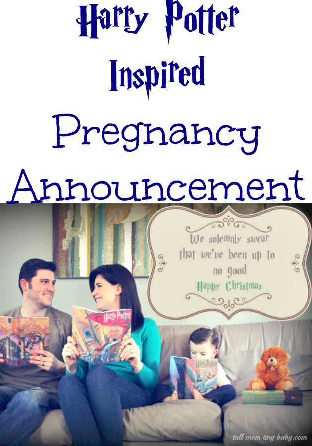 ce1e4240ff2a2 harry potter pregnancy announcement | babies! | Fun pregnancy ...