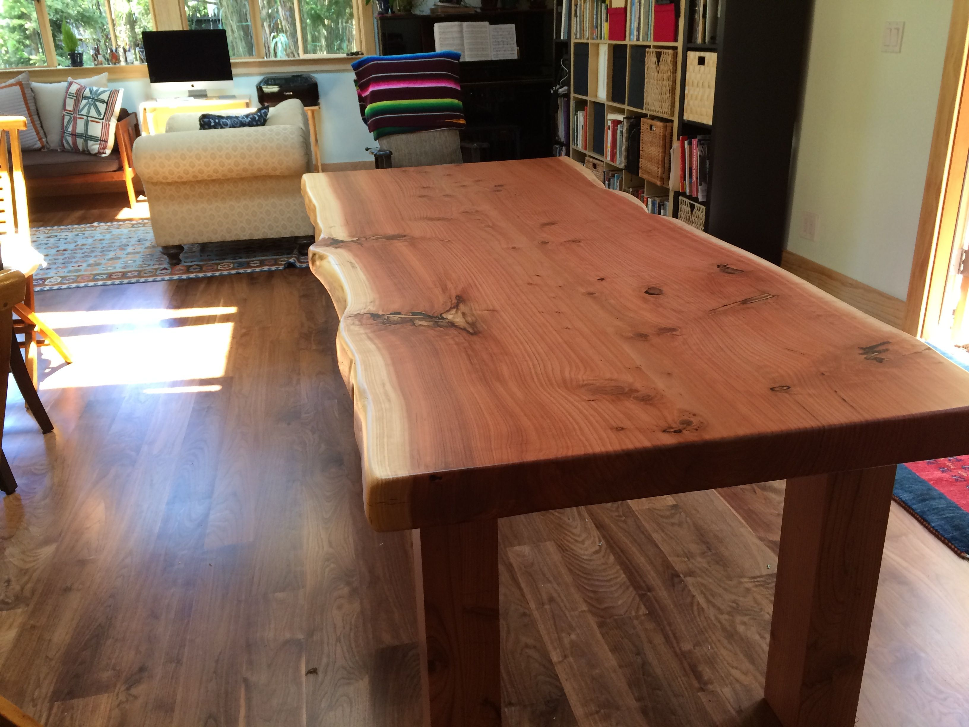 Lovely Live Edge Redwood Table Dining Table Live Edge Table Table