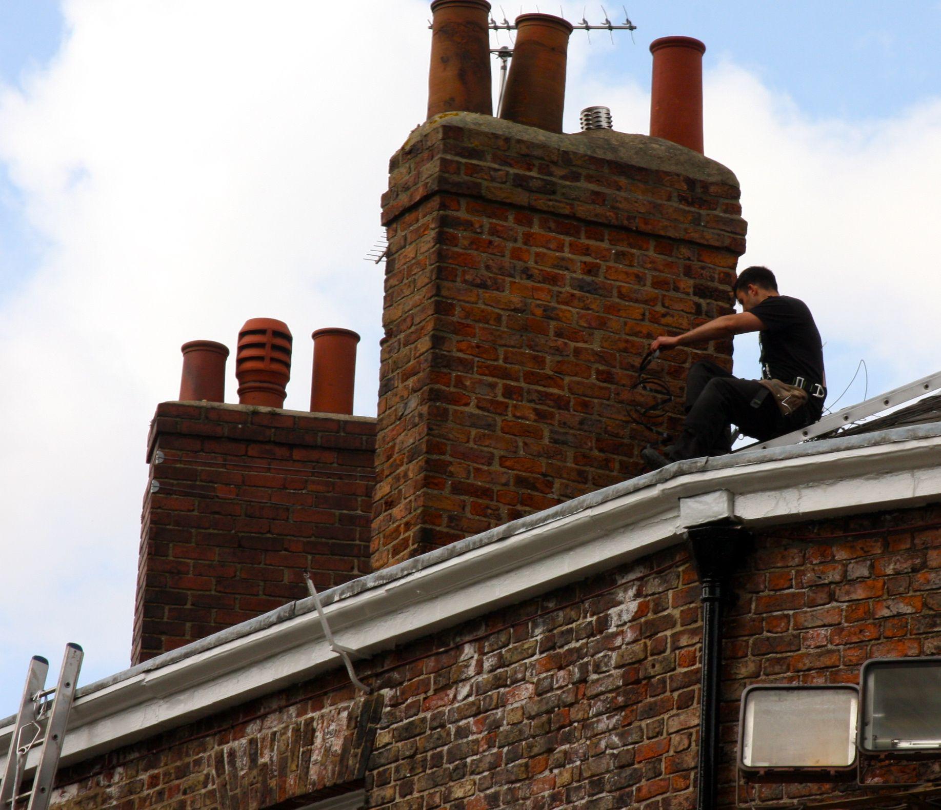 Old Chimney Stacks Chimney Sweep Gargoyles Rooftop