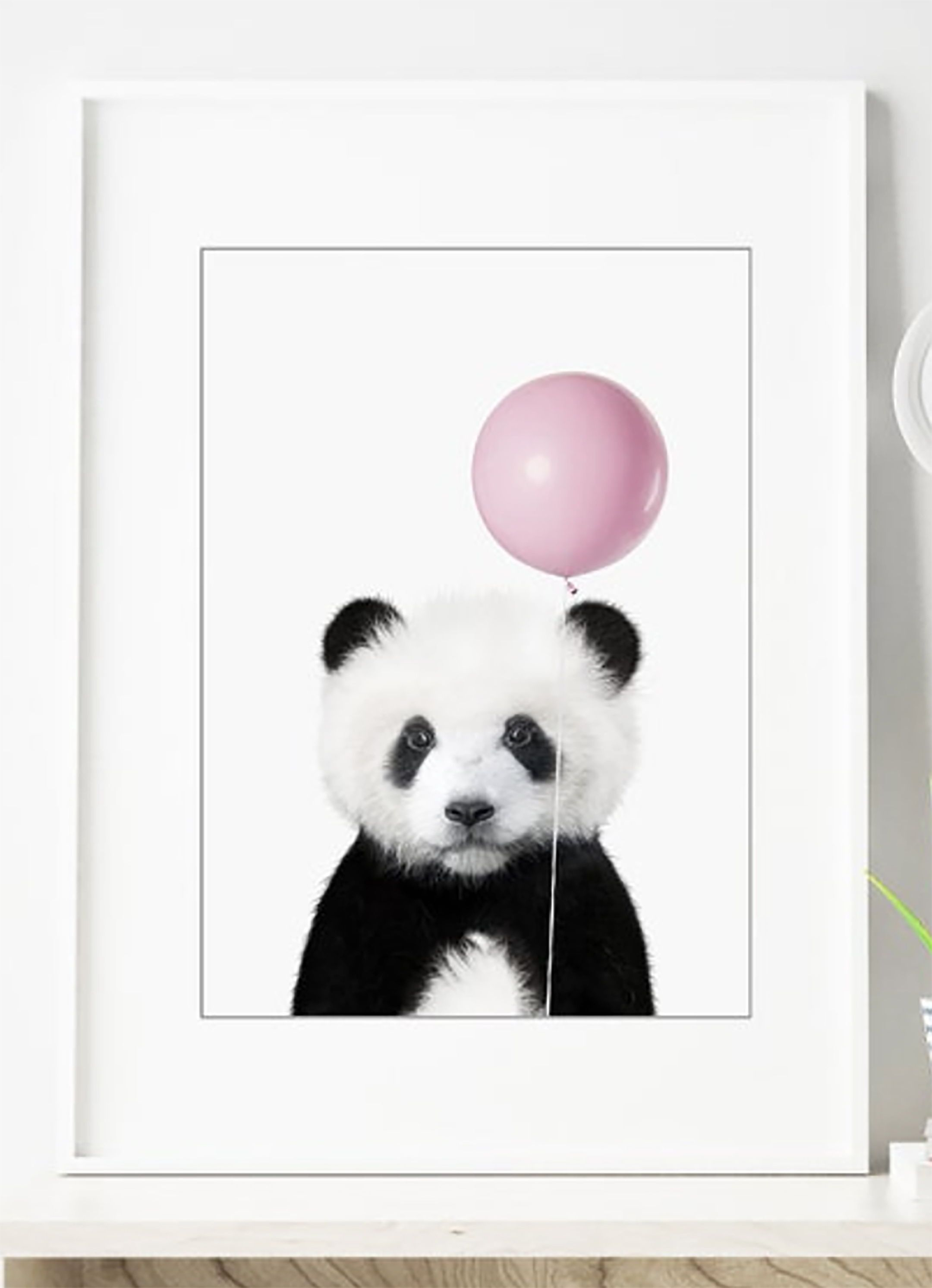 Baby Panda Bear With Balloon Print Nursery Panda Bear Wall Art