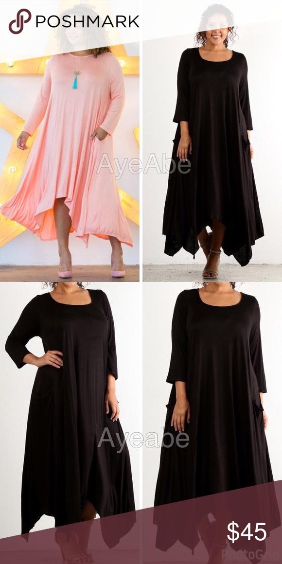 93499e5738252 Plus size hi low asymmetrical hem maxi dress sexy New plus size Hi Low hem