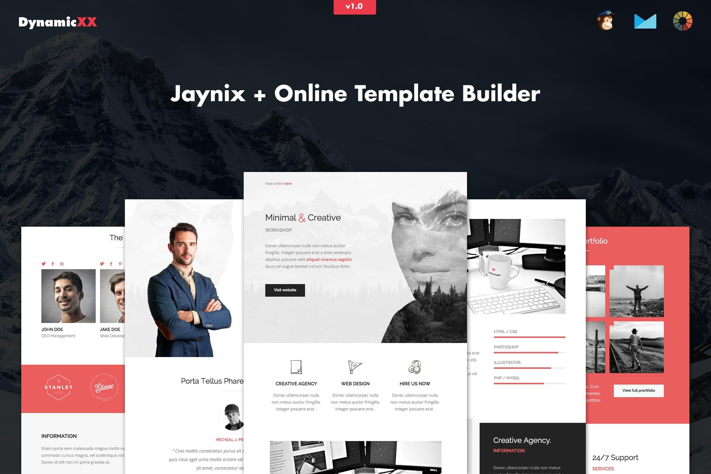 Jaynix - Responsive Corporate Portfolio Email | Emails