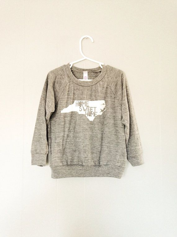 Home Sweet Home NC kids pullover 2T  4T  6T on Etsy, $20.00