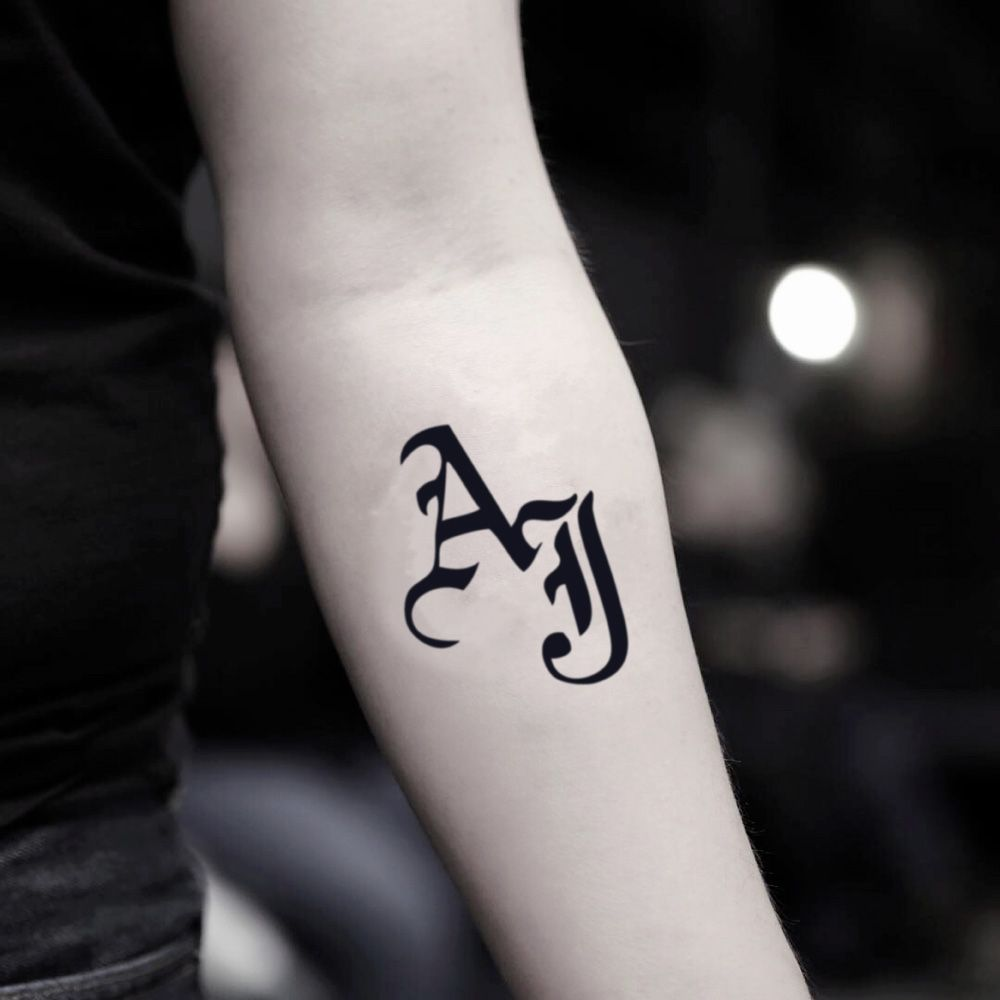 Aj Styles Temporary Tattoo Sticker Set Of 2 Alphabet Tattoo Designs Tattoo Stickers Tattoos