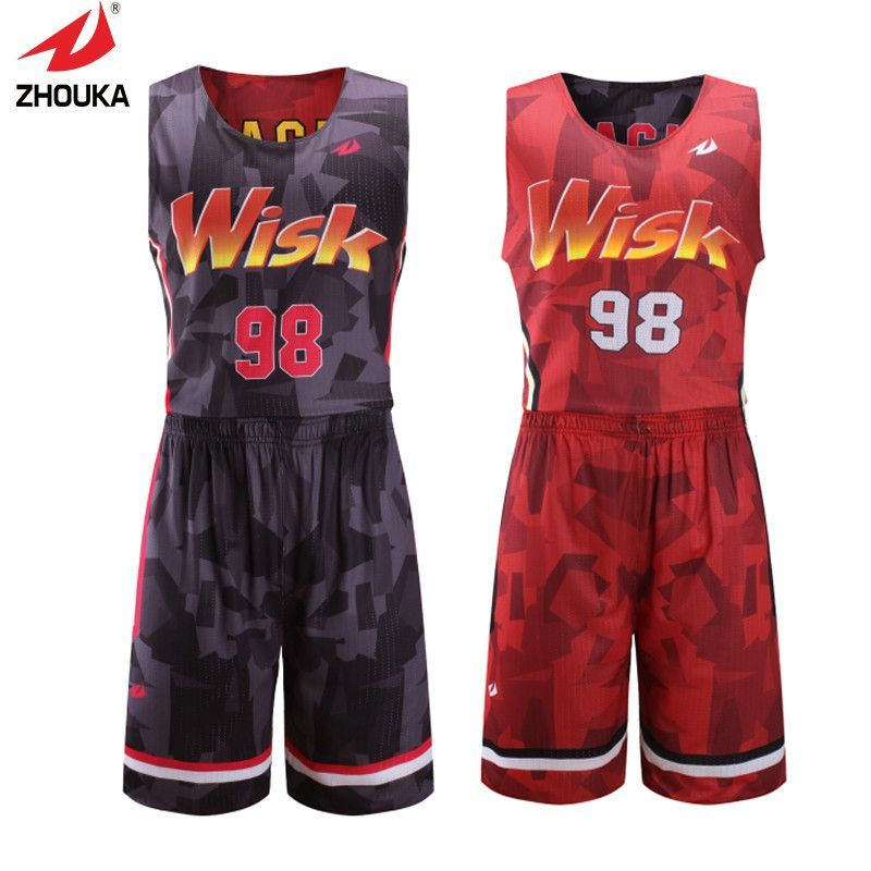 02e618acec2 Reversible quick dry full sublimation custom college basketball jerseys  personalized print Colorful patterns basquete jersey