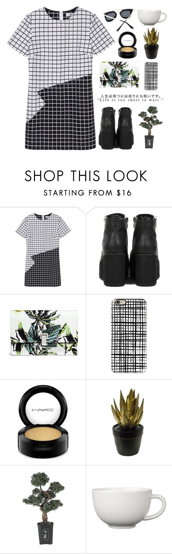 """""""Untitled #628"""" by keziakaligis ❤ liked on Polyvore featuring Proenza Schouler, Casetify, MAC Cosmetics, Sagebrook Home, Nearly Natural and Arabia"""