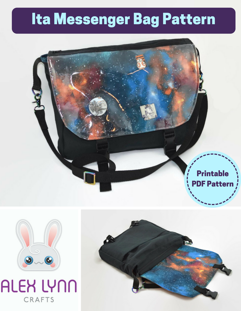 Ita Messenger Bag Sewing Pattern PDF | Bags | Bag patterns