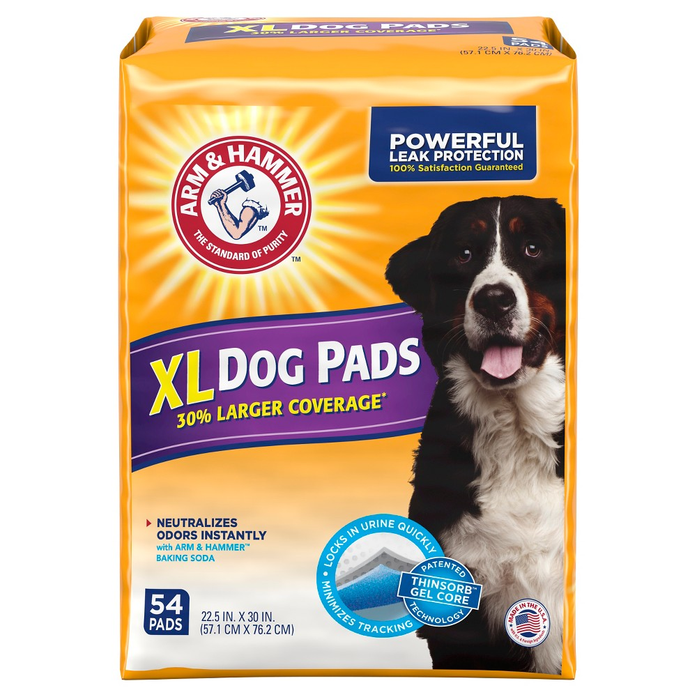 Arm Hammer Absorbent Dog Pads And Puppy Training Pads 54ct