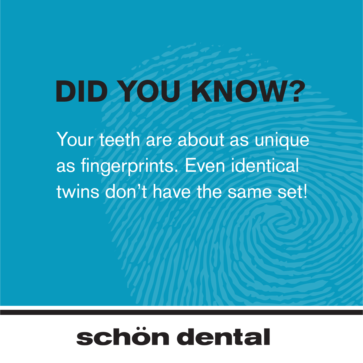 Did You Know That Just Like Fingerprints Your Teeth Are As