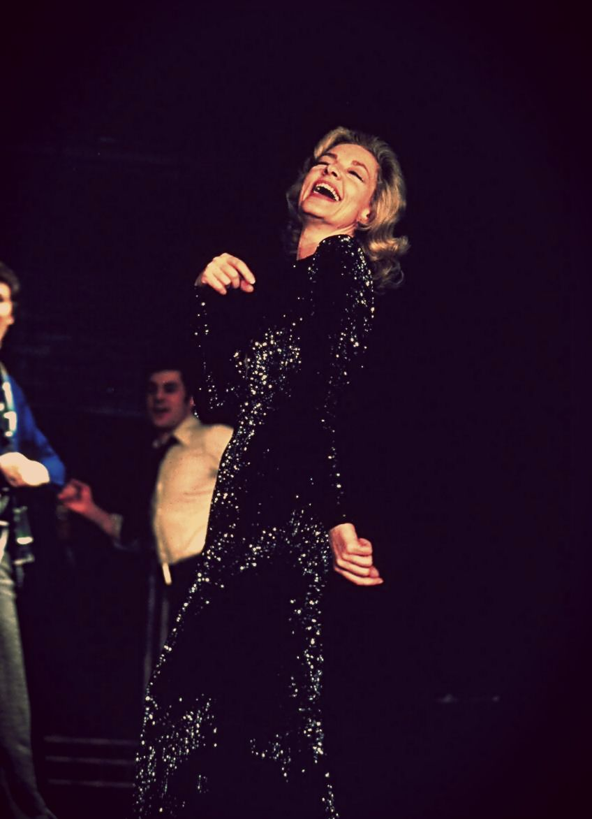 Lauren Bacall as Margot Channing in the original Broadway production of Applause!