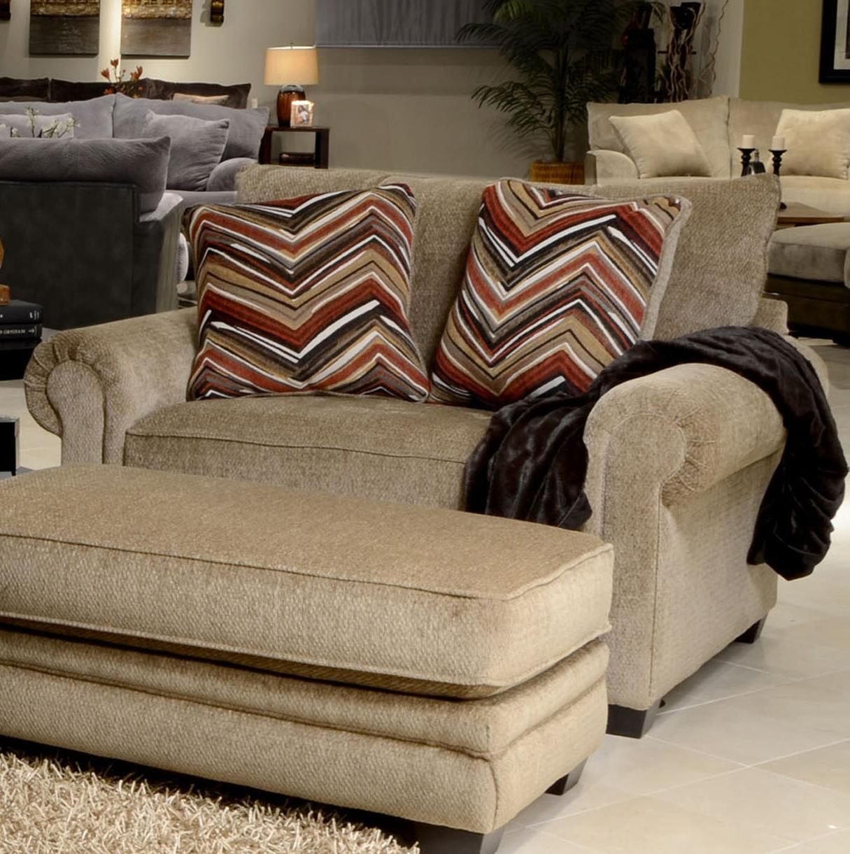 Delicieux Anniston Oversized Rolled Arm Chair By Jackson Furniture At Great American  Home Store