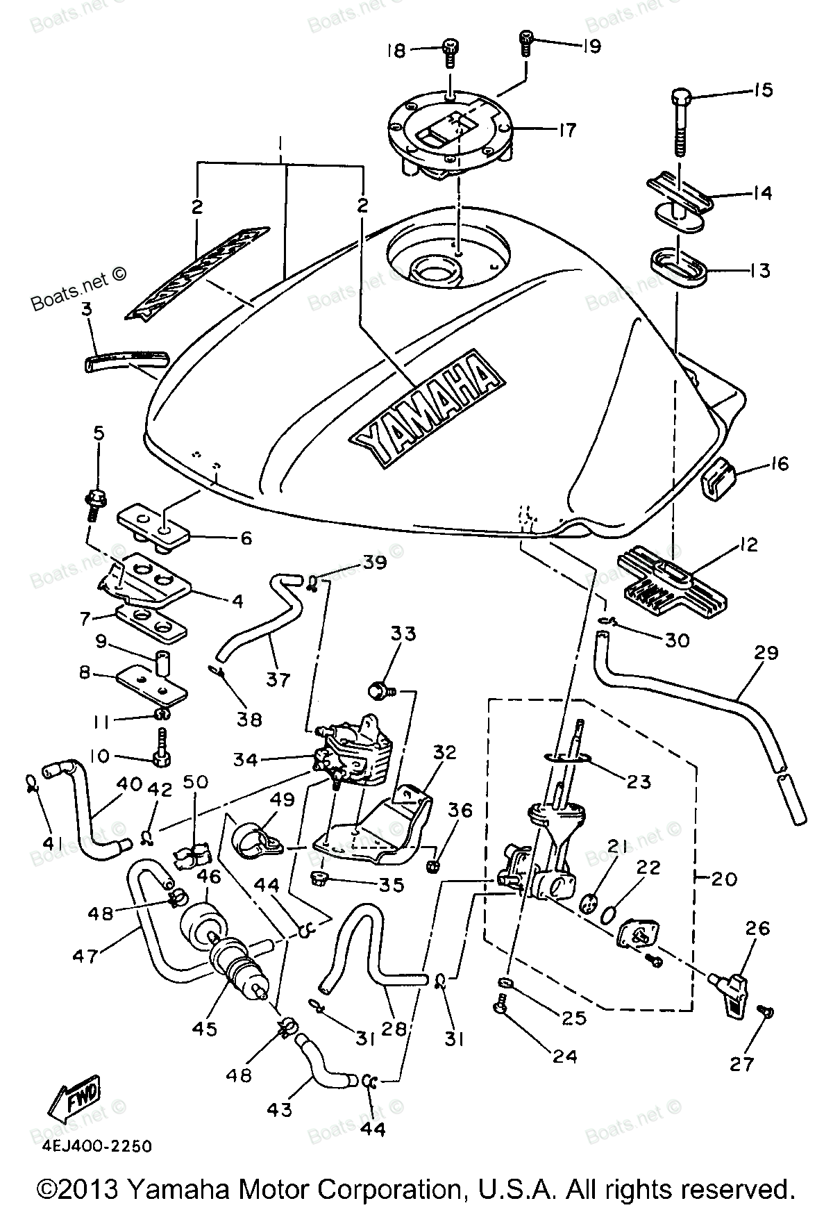 Seca 2 Yamaha Fuel System Diagram Of 1997 Ii Pump Xj600sjc Motorcycle Tank