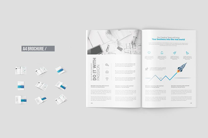 Free A4 Brochure Mockup Templates Mock Up Free Mock Up