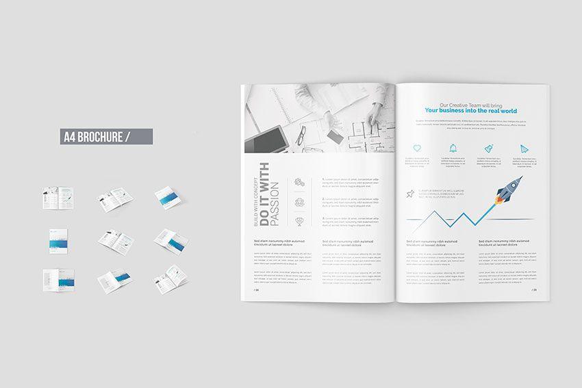 Free A Brochure Mockup Templates Mock Up Free Mockup - Brochure mockup template