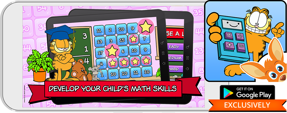 Develop Your Child's Math Skills with Garfield on Rooplay