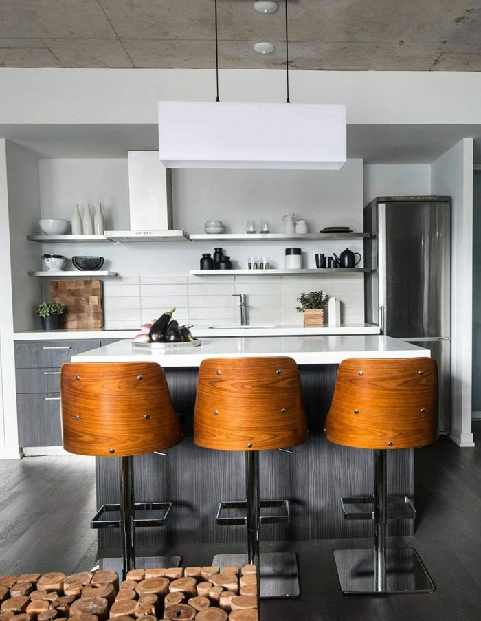 einrichtungsideen industrielle küche tolle pendelleuchte kitchen - industrielle stil wohnung