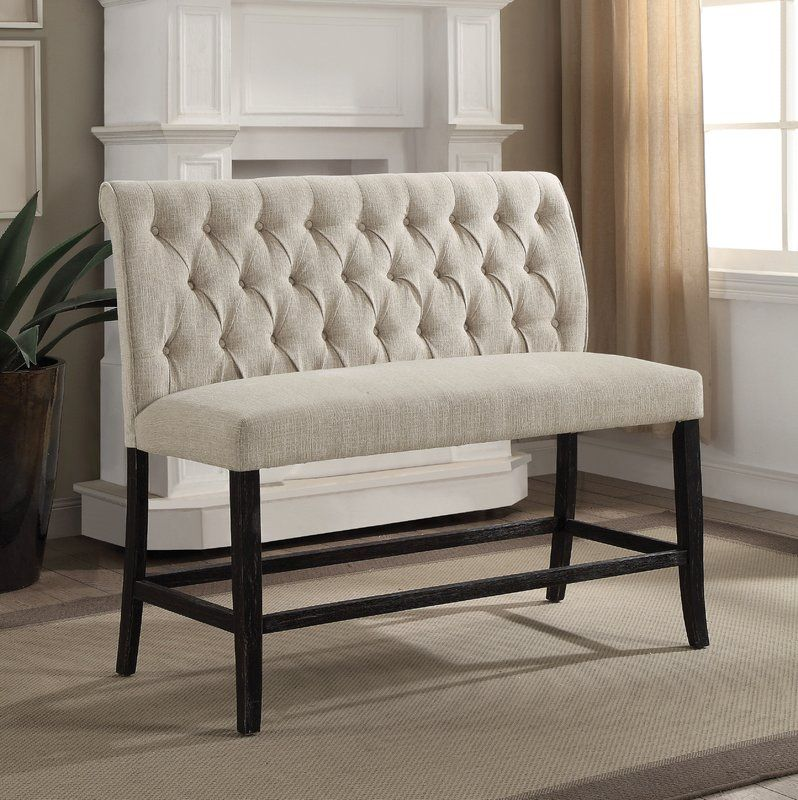 Tomasello Upholstered Bench Counter Height Bench Furniture Furniture Of America