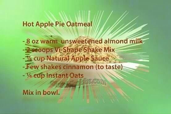 Hot Apple Pie Oatmeal... alternative to a breakfast #vishake.  Enjoy!  Let me know if you like it!