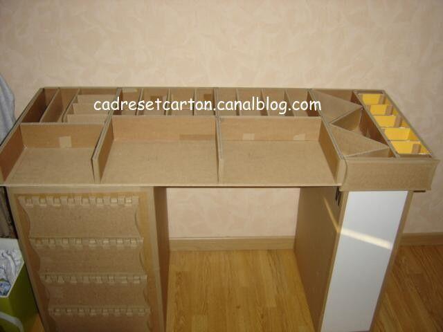 Le plateau du bureau en carton tutorial 5 les cadres et