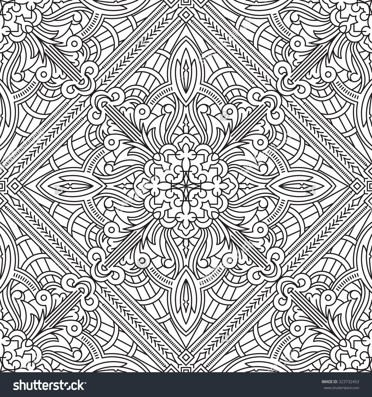 Seamless Abstract Tribal Pattern Hand Drawn Ethnic Texture Vector