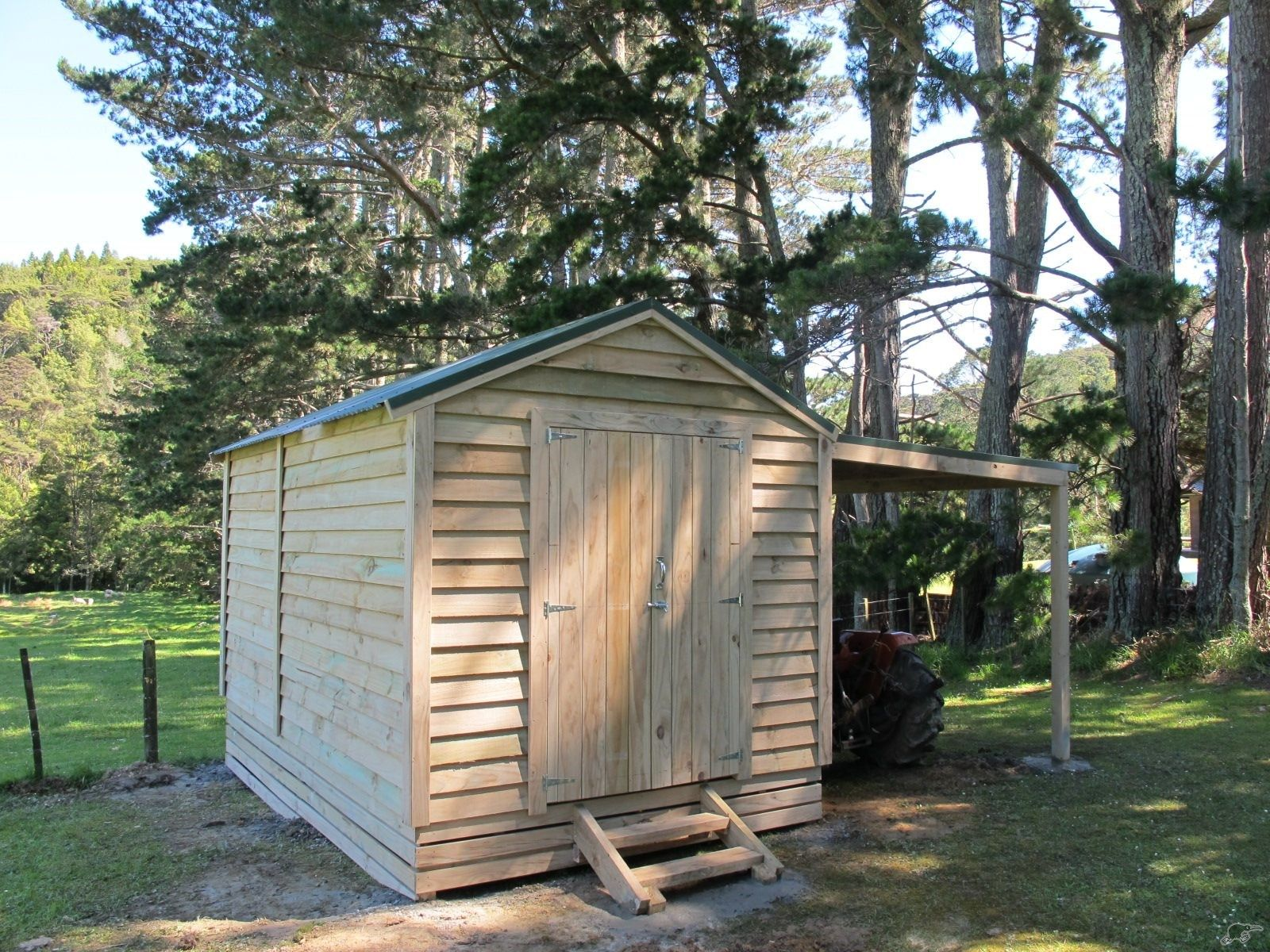 WOODEN SHED with CARPORT Trade Me Diy shed plans, Shed