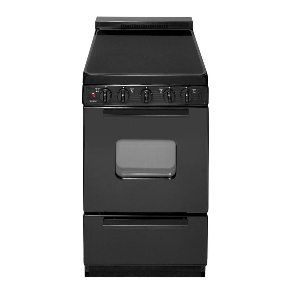 Premier 20 In 2 42 Cu Ft Freestanding Smooth Top Electric Range In Black Eas2x0bp With Images Freestanding Electric Ranges Electric Range Range Appliances