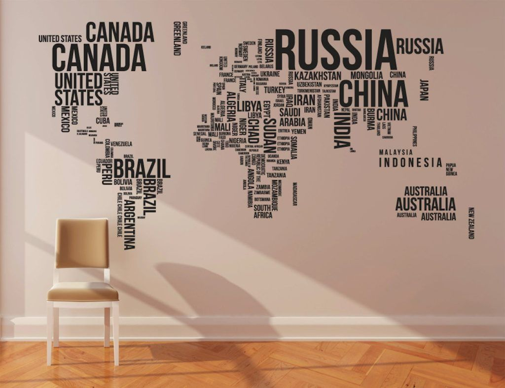 World map wall stickers gumiabroncs Choice Image