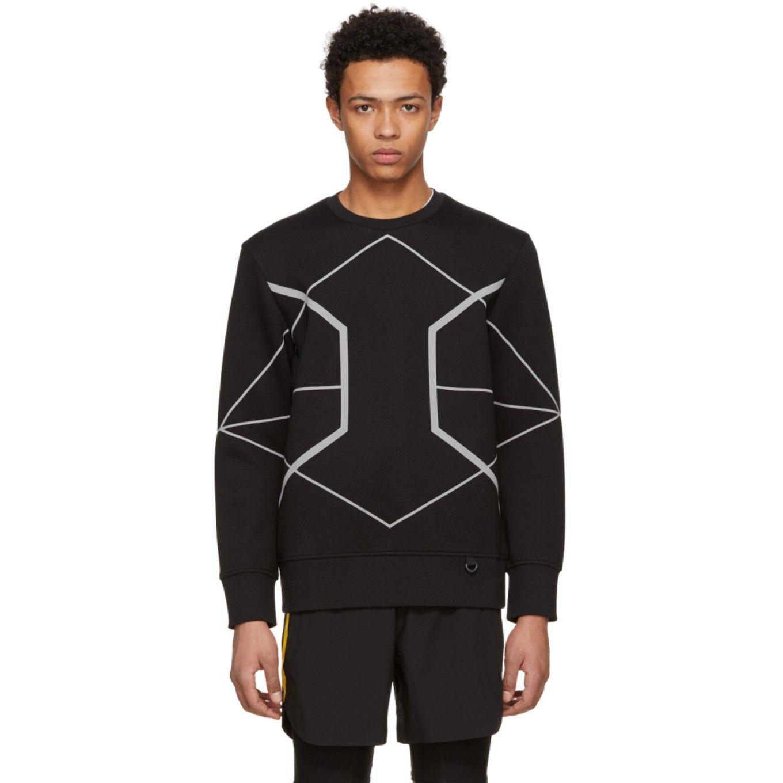 Discount How Much Black Reflective Symmetric Lines Sweatshirt Blackbarrett by Neil Barrett Buy Cheap Exclusive 9p9lBDc3